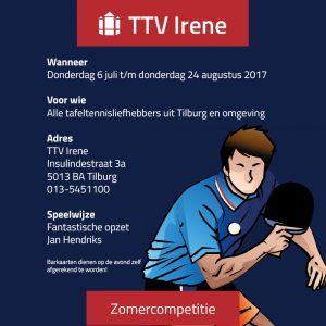 Zomercompetitie Irene 2017
